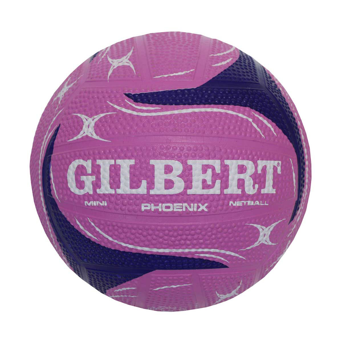 Balls Netball Gilbert Pulse Netball Size 4 Pink and White
