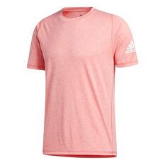 adidas Mens FreeLift Sport Ultimate Heather Tee Pink S, Pink, rebel_hi-res