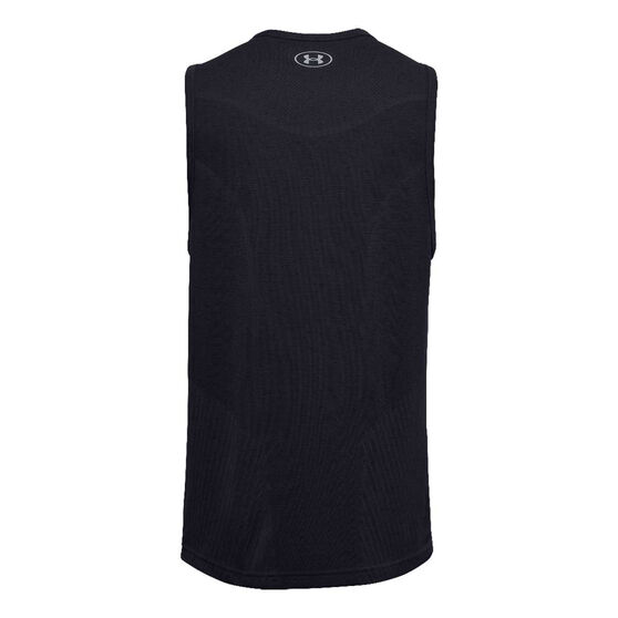 Under Armour Mens UA Seamless Tank, Black, rebel_hi-res