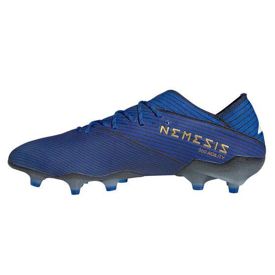 adidas Nemeziz 19.1 Mens Football Boots, Blue / White, rebel_hi-res