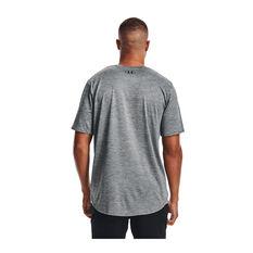 Under Armour Mens Training Vent Short Sleeve Tee, Grey, rebel_hi-res