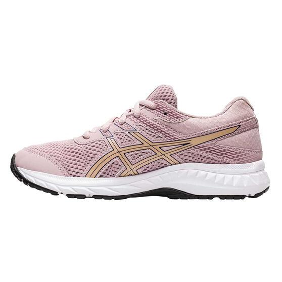 Asics GEL Contend 6 Kids Running Shoes, Pink / Gold, rebel_hi-res