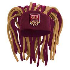 QLD Maroons State of Origin 2019  Dreadlock Fun Hat, , rebel_hi-res