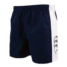 Canterbury Mens Panelled Tactic Shorts Blue / White S, Blue / White, rebel_hi-res