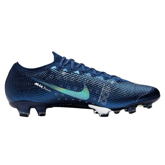 Nike Mercurial Vapor XIII Elite Football Boots, Blue / Silver, rebel_hi-res