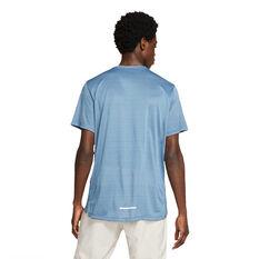 Nike Mens Dri-FIT Miler Running Tee Blue S, Blue, rebel_hi-res