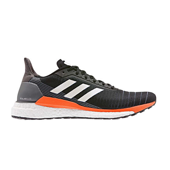 adidas Solar Glide Mens Running Shoes, Black / White, rebel_hi-res