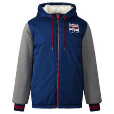 Western Bulldogs Mens Sideline Jacket Blue S, Blue, rebel_hi-res
