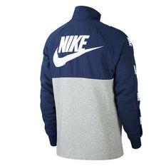 Nike Sportswear Mens Hybrid Half Zip Jacket Navy XS, Navy, rebel_hi-res