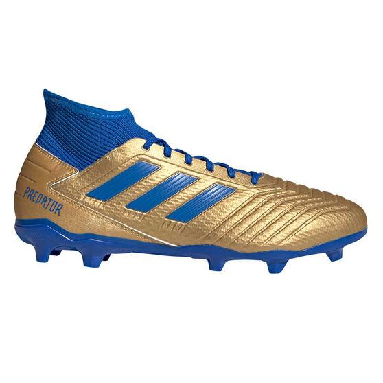 adidas Predator 19.3 Football Boots, Gold / Blue, rebel_hi-res