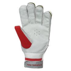 New Balance TC Alpha Junior Cricket Batting Gloves Red/Black Youth Left Hand, Red/Black, rebel_hi-res