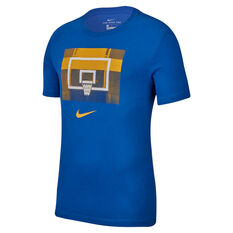 Nike Mens Dri FIT Backboard Basketball Top Blue / Orange S, Blue / Orange, rebel_hi-res