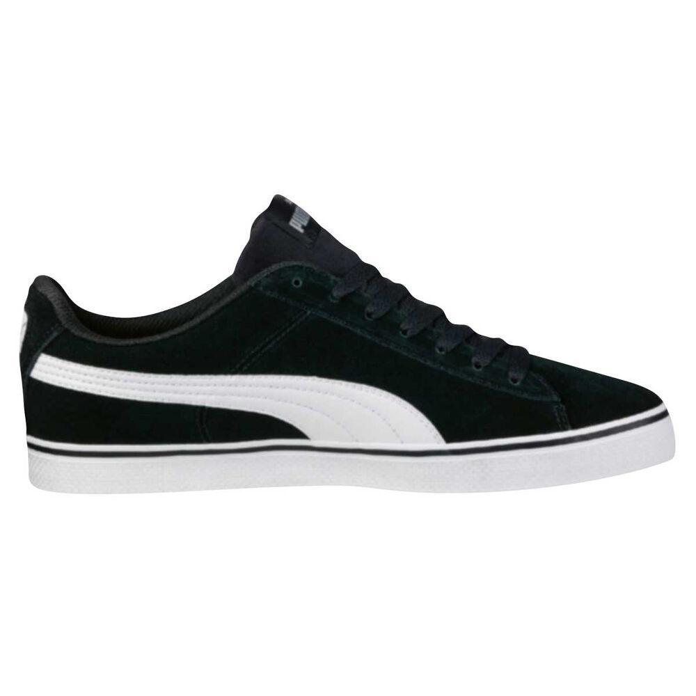9611f6b15ff11 Puma Mens 1948 Vulc Casual Shoes Black   White US 10