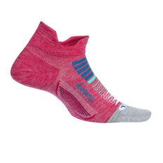 Feetures Elite Cushion No Show Tab Socks Coral L, Coral, rebel_hi-res