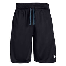 Under Armour Boys Prototype Wordmark Shorts Black / White XS, Black / White, rebel_hi-res
