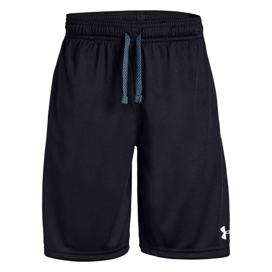 Under Armour Boys Prototype Wordmark Shorts, Black / White, rebel_hi-res