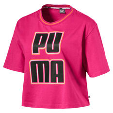 differently f0eae dcf11 Puma Womens Rebel Reload Crop Tee Purple XS, Purple, rebel hi-res ...
