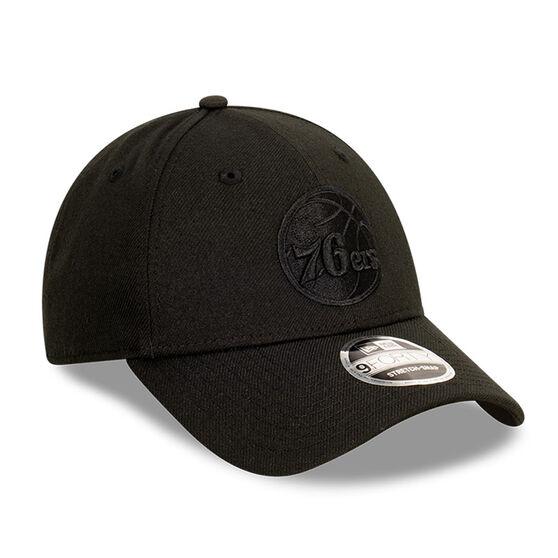 Philadelphia 76ers Black on Black 9FORTY Cap, , rebel_hi-res