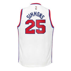 Nike Philadelphia 76ers Ben Simmons 2019/20 Youth Icon Edition Jersey White S, White, rebel_hi-res