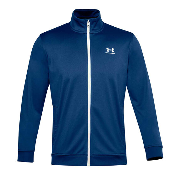 Under Armour Mens Sportstyle Tricot Jacket, Blue, rebel_hi-res