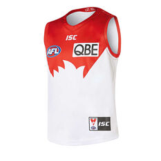 Sydney Swans 2019 Kids Away Guernsey White / Red 8, White / Red, rebel_hi-res