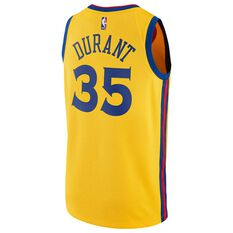Nike  Golden State Warriors Kevin Durant City 2018 Mens Swingman Jersey Yellow S, Yellow, rebel_hi-res