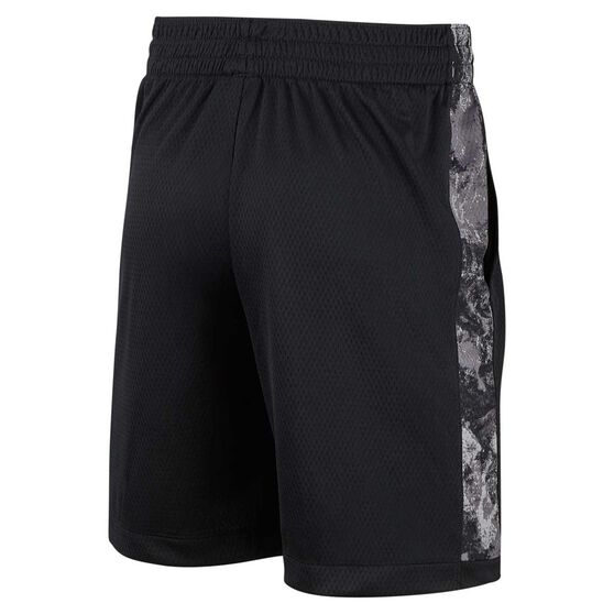 Nike Trophy Boys Printed Training Shorts, Black / White, rebel_hi-res