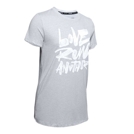 Under Armour Womens Love Run Another Tee, Grey, rebel_hi-res
