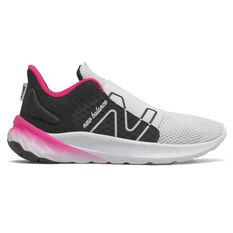 New Balance Fresh Foam Roav v2 Kids Running Shoes Black/Pink US 11, Black/Pink, rebel_hi-res