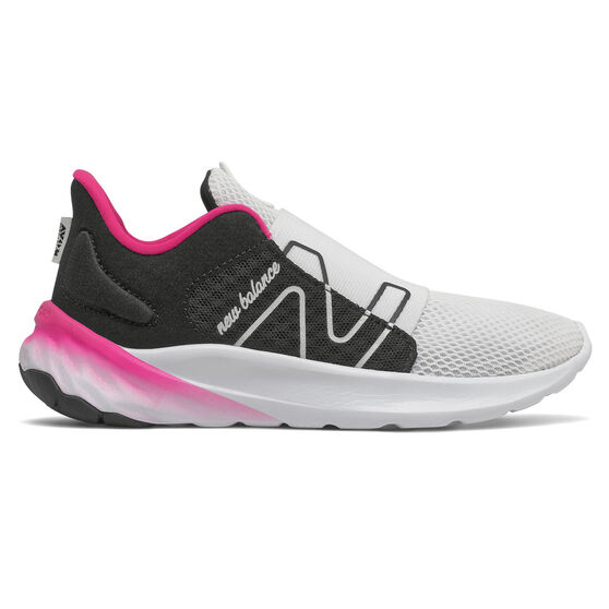New Balance Fresh Foam Roav v2 Kids Running Shoes, Black/Pink, rebel_hi-res