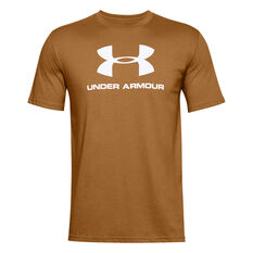 Under Armour Mens Sportstyle Logo Tee, Yellow, rebel_hi-res