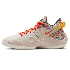 Nike Zoom Freak 2 Kids Basketball Shoes Neutral US 4, Neutral, rebel_hi-res