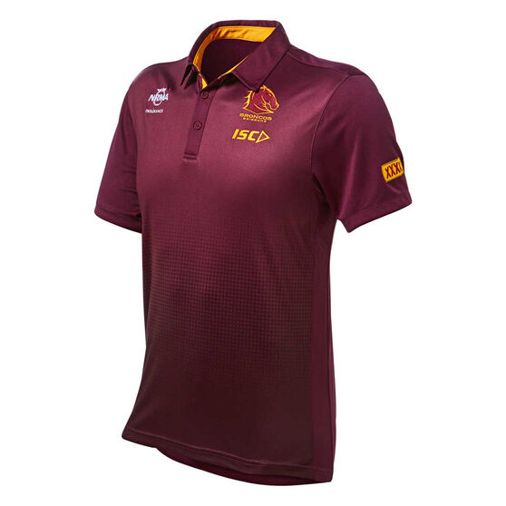 Brisbane Broncos 2019 Mens Sub Polo, Maroon, rebel_hi-res