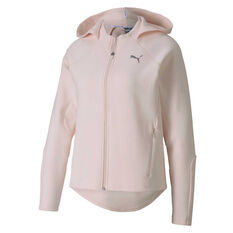 Puma Womens Evostripe Full Zip Hoodie Pink XS, Pink, rebel_hi-res