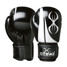Sting Armalite Boxing Gloves Black / Silver 10oz, Black / Silver, rebel_hi-res