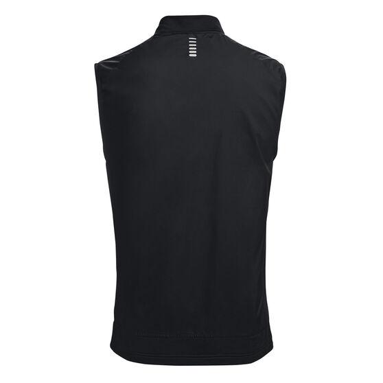 Under Armour Mens UA Run Insulate Vest, Black, rebel_hi-res