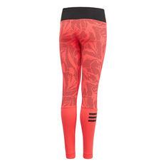 86405bf2320 ... rebel hi adidas Girls Training Summer Training Tights Red   Black 8