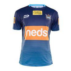 Gold Coast Titans 2020 Mens Training Tee, Blue, rebel_hi-res