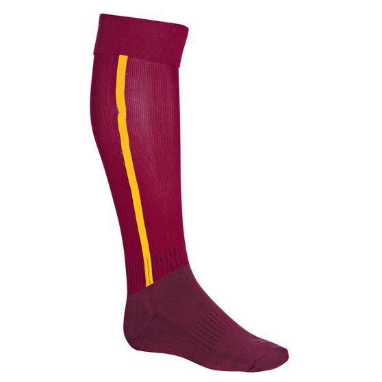 Burley Brisbane Broncos Football Socks, , rebel_hi-res