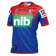 Newcastle Knights 2019 Mens Home Jersey Blue / Red S, Blue / Red, rebel_hi-res