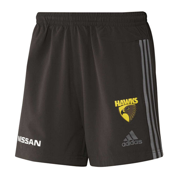 Hawthorn Hawks 2019/20 Mens Club Shorts, Brown, rebel_hi-res