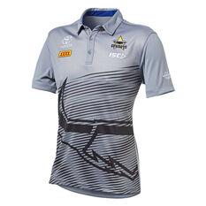 North Queensland Cowboys 2019 Mens Performance Polo Grey S, Grey, rebel_hi-res