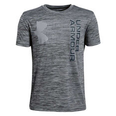 Under Armour Boys Crossfade Tee Black / Grey XS, Black / Grey, rebel_hi-res
