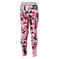 Nike Girls Tokyo Floral Leggings Pink 4, Pink, rebel_hi-res