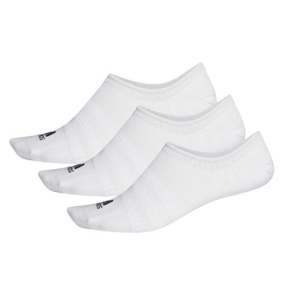 adidas Light No Show Socks 3 pack, White, rebel_hi-res