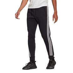 Adidas Mens FI 3 Stripes Pants Black S, Black, rebel_hi-res
