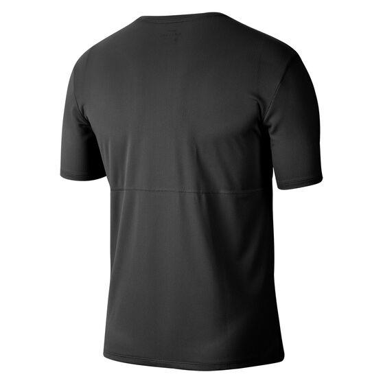 Nike Mens Breathe Wild Run Running Tee, Black, rebel_hi-res