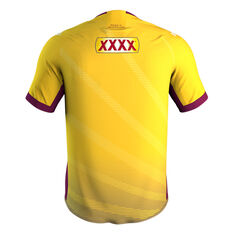 QLD Maroons State of Origin 2020 Mens Training Tee Yellow S, Yellow, rebel_hi-res