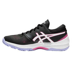 Asics GEL Netburner 20 D Womens Netball Shoes Black / White US 6, Black / White, rebel_hi-res