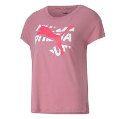 Puma Womens Modern Sports Graphic Tee, Pink, rebel_hi-res